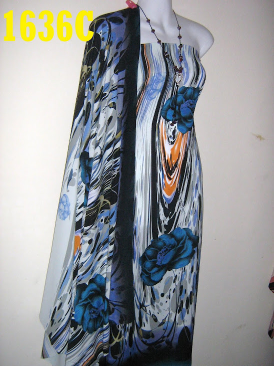 NSD 1636C: NABILA SILK DIGITAL PRINTED, 4 METER