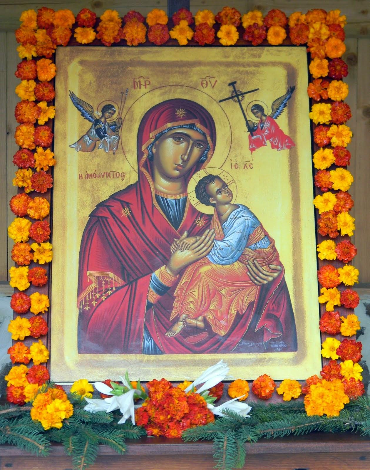 Procesiune cu icoana Maicii Domnului  de la Mariselu in Domnesti - 14 august 2014