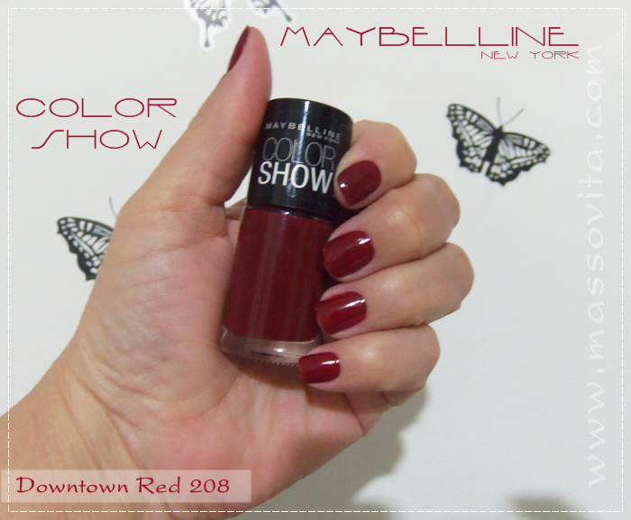 Maybelline downtown red 280