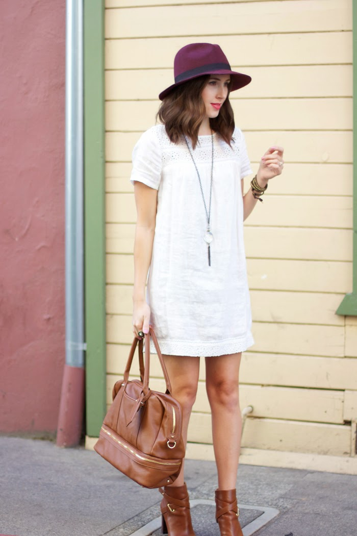 Transition a summer dress into Fall