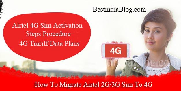 airtel 4G Sim activation