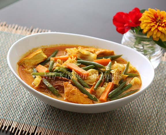 My Kitchen SnippetsLontong or Kuah Lodeh/Mix Vegetable in
