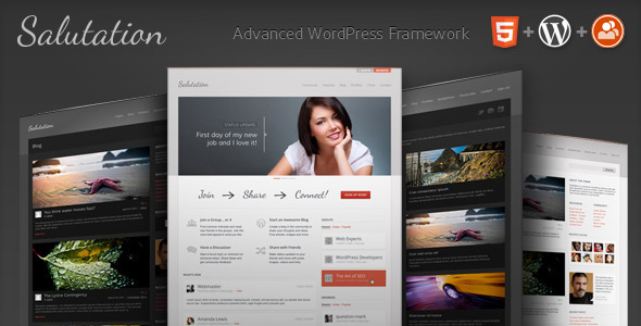 Image for Salutation – WordPress + BuddyPress Theme by ThemeForest