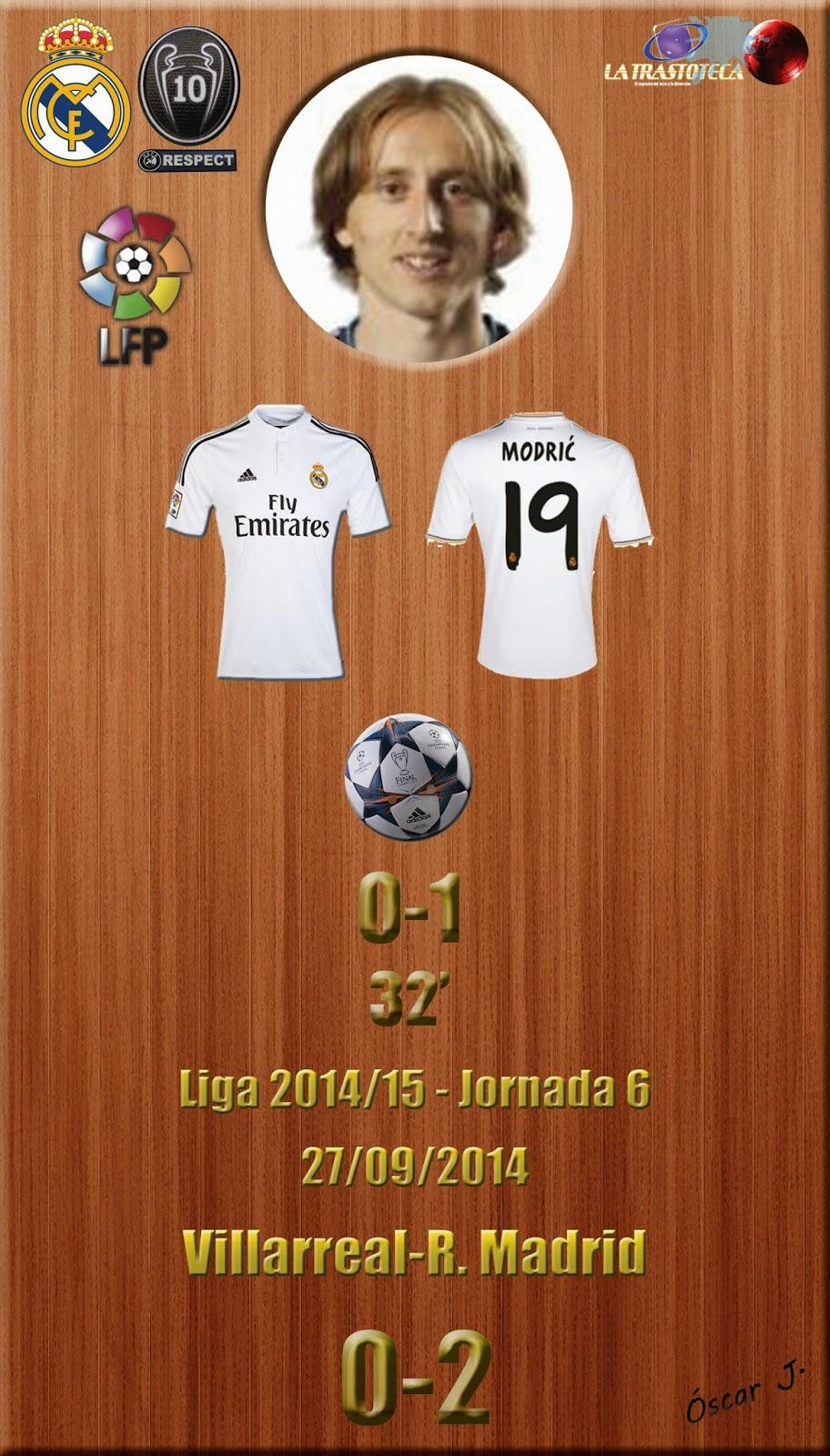 Modric (0-1) - Liga 2014/15. Jornada 6 (27/9/2014)