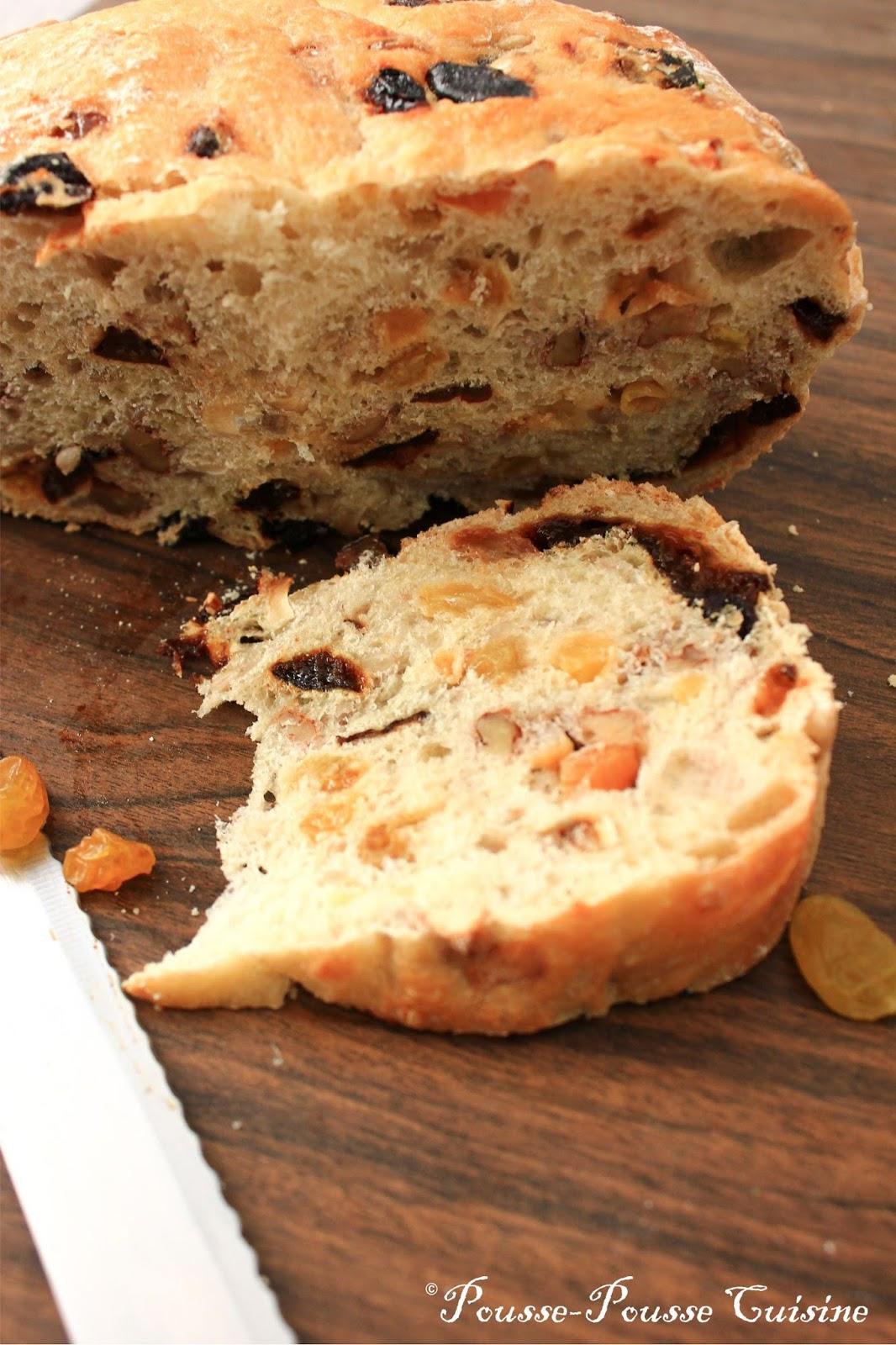 pousse pousse cuisine pain cocotte aux fruits secs. Black Bedroom Furniture Sets. Home Design Ideas