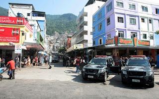 Ocupação da Favela da Rocinha no Rio de Janeiro