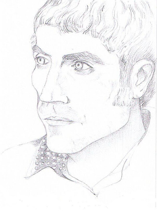 Retrato de Paco Meléndez realizado por la artista Raquel Fariñas.
