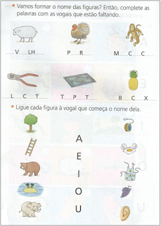Atividades para introduzia as vogais