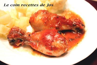 recettes  Pilons de poulet frit