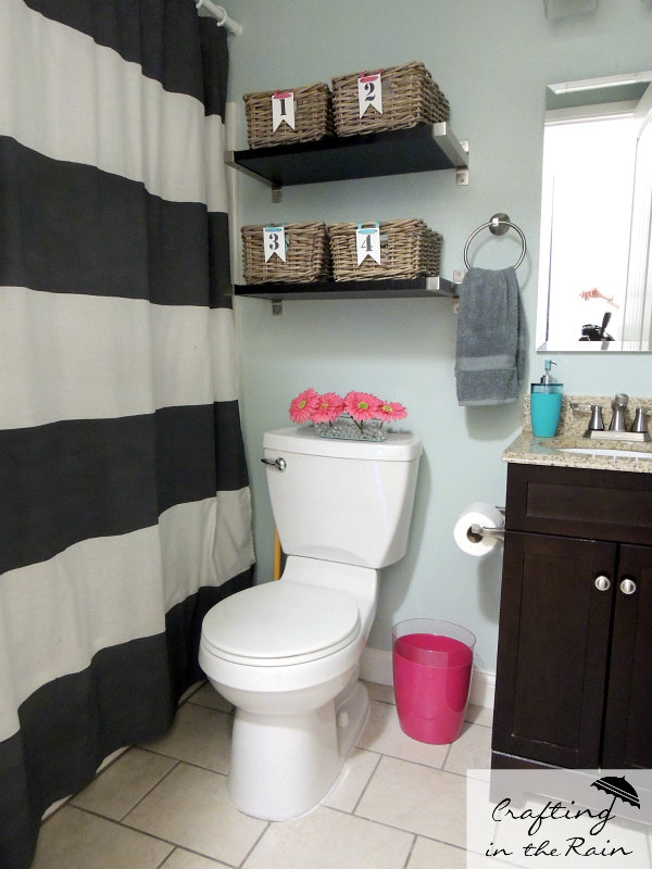 Small bathroom ideas crafting in the rain for Cute bathroom stuff