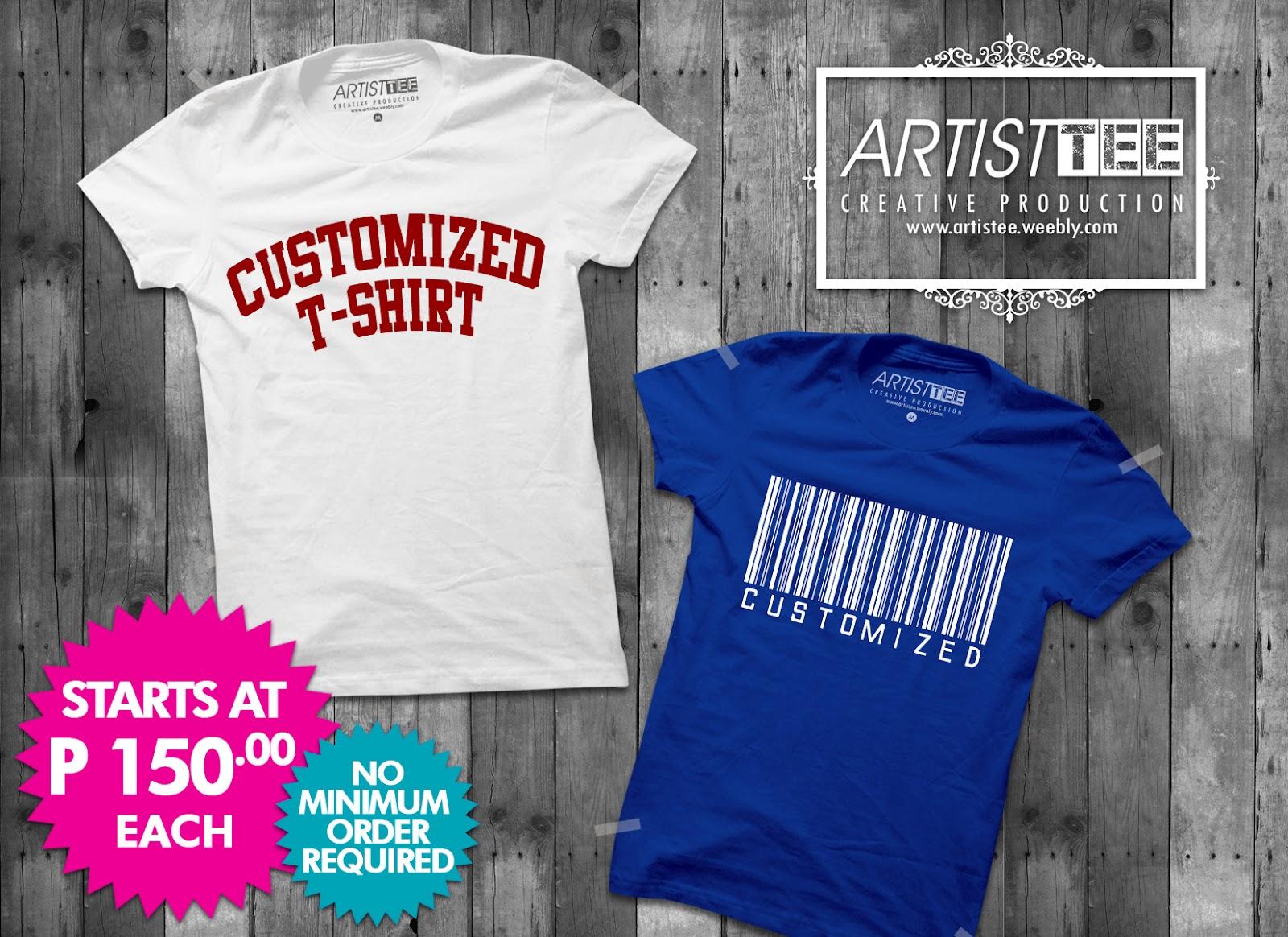 Customized T Shirts No Minimum Order