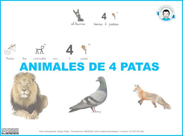 animales de 4 patas