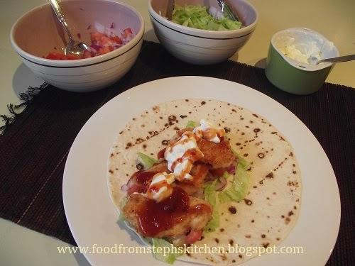 Making crispy chicken wraps - Steph's Kitchen