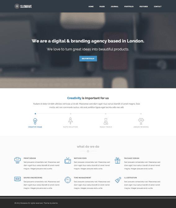 Slowave Free Homepage PSD