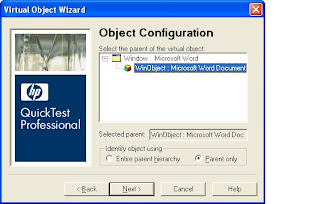 QTP Virtual Object Configuration