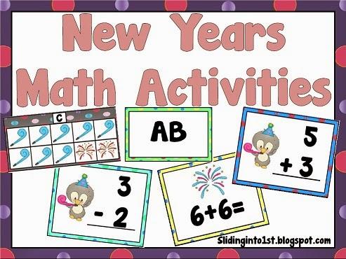 http://www.teacherspayteachers.com/Product/New-Years-Math-Activities-469882