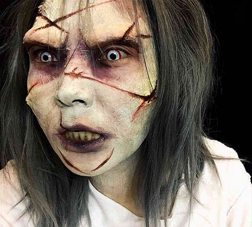 exorcist halloween makeup