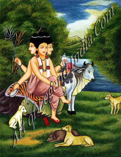 Shiva as Vrishabhanatha, lord of the bull, controller of beastly passions
