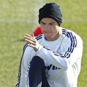 Cristiano works hard in Valdebebas to play in the Champions League quarterfinals