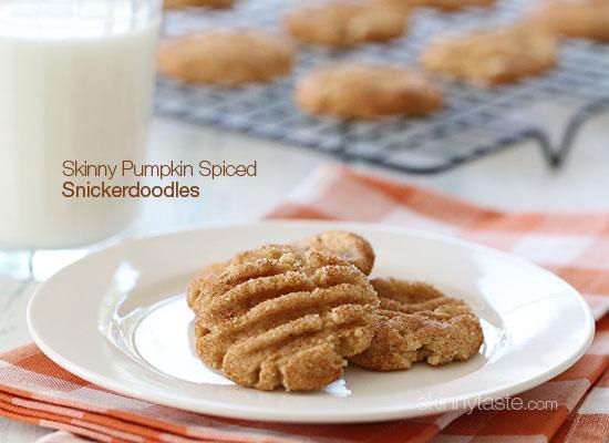skinny pumpkin spiced snickerdoodles Skinny Pumpkin Spiced Snickerdoodles