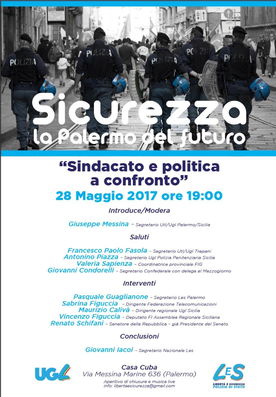 Domenica 28.05.17, Les Polizia di Stato e Ugl Sicilia incontrano a Palermo i cittadini.