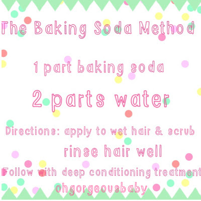 The baking soda method 1 part baking soda  2 parts water.  Apply to to hair and scrub with fingers gently.  Rinse well and follow up with a deep conditioning treatment.