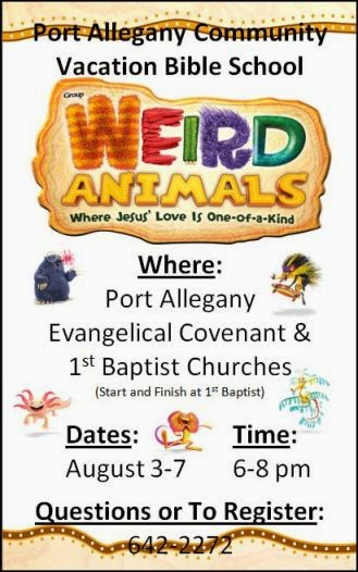 8-3/4/5/6/7 Port Allegany Community  VBS