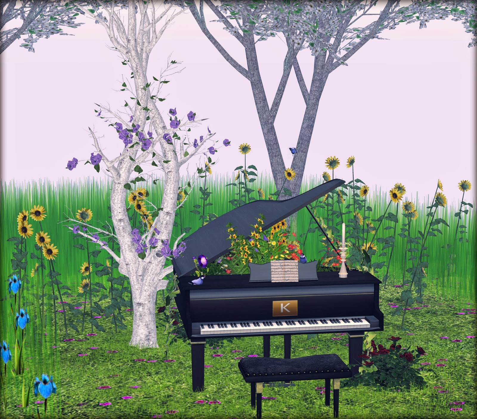 kairre garden piano,little branch sunflowers