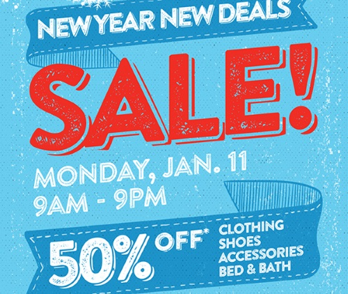 Value Village New Year New Deals 50% Off Clothing, Shoes, Accessories, Bed & Bath