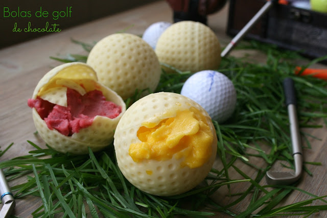 bolas de golf,chocolate