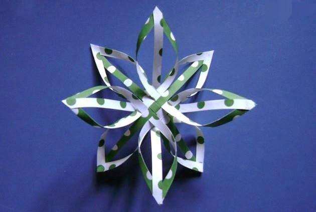 Manualidades para navidad bonita y original estrella de papel un mundo de manualidades - Manualidades de navidad con papel ...