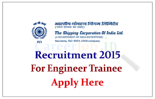 The Shipping Corporation of India Limited Recruitment 2015 for the post of Trainee Electrical