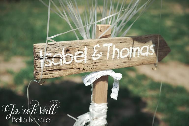 Hochzeitsdeko Holz Namen