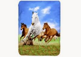 Jual Selimut Kendra Soft Panel Blanket Horse