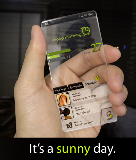 Future electronics future of touch cell phone for Future gadgets and technology
