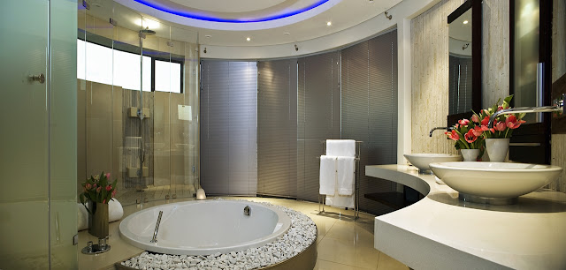 Modern round bathroom