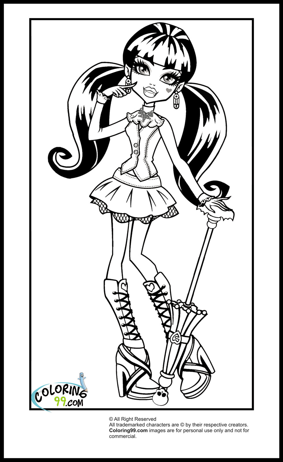 monster high draculaura coloring pages minister coloring