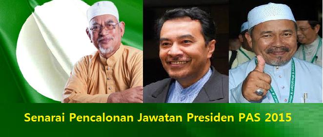 Pencalonan Jawatan Presiden PAS 2015