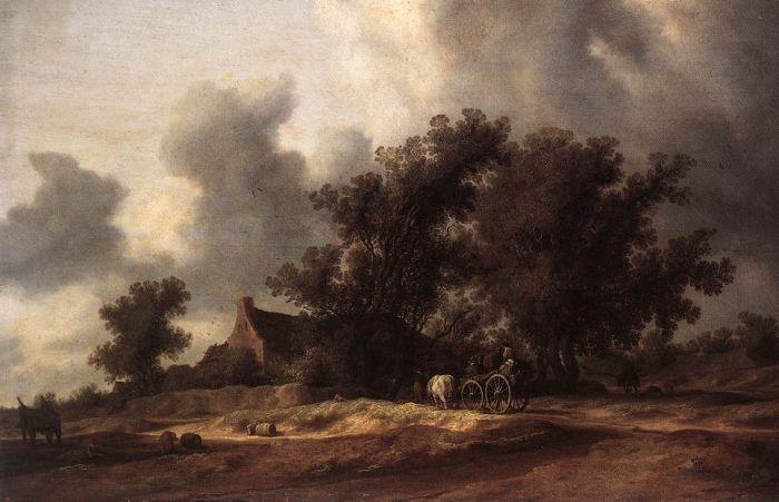 Ruysdaël salomon van 1600 1670 après la pluie 1631