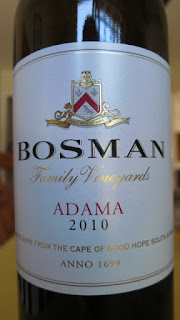 Label photo of Bosman Adama White 2010 from South Africa