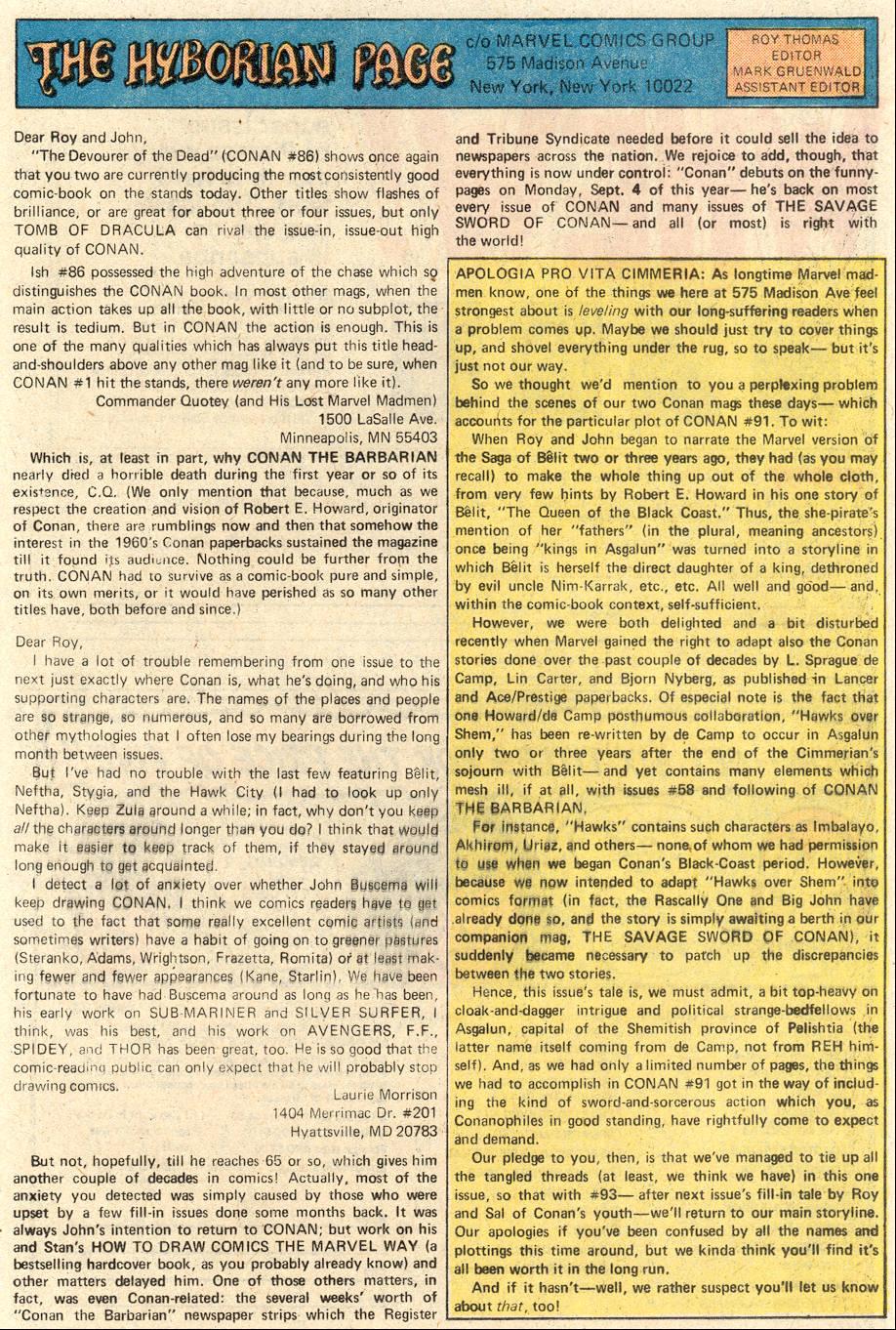 Conan the Barbarian (1970) Issue #91 #103 - English 20