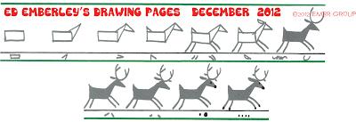Ed Emberley's Reindeer Drawing Page