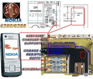 Nokia 6280 6288 not charging solution