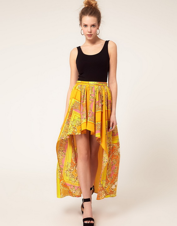 around the world by high low skirt trends