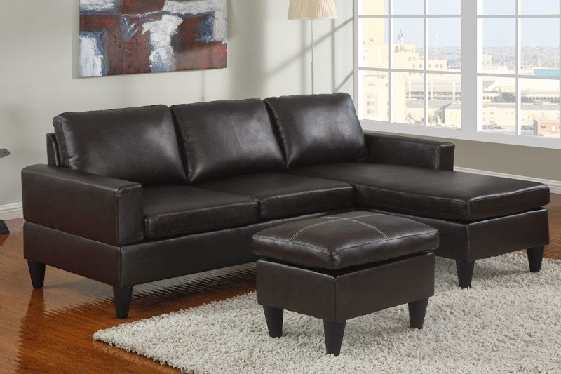Small Leather Sectional