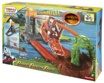 TOYS : JUGUETES - FISHER-PRICE Thomas y sus amigos | Thomas & Friends | Take-n-Play Circuito del volcán boca de fuego | Daring Dragon Drop Producto Oficial 2015 | Mattel CDN09 | A partir de 3 años Comprar Amazon España & buy Amazon USA