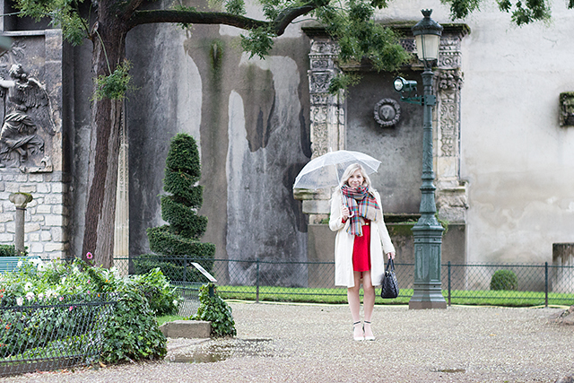Hidden garden in Paris, France