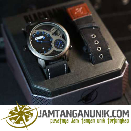 jam tangan cowok black hawk dual time