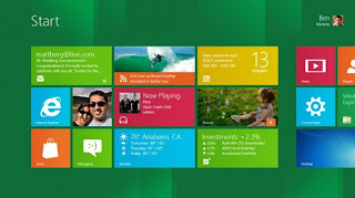 Windows 8 start page