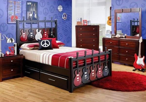 desain kamar anak muda pecinta musik